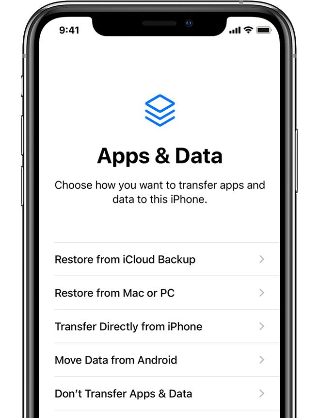 Restore from backup to set up