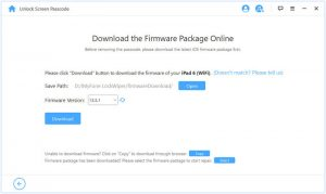 Start to download firmware to unlock iPhone/iPad