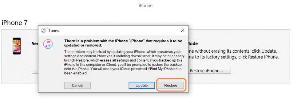 Restore disabled iPhone or iPad with iTunes or Finder (with computer)