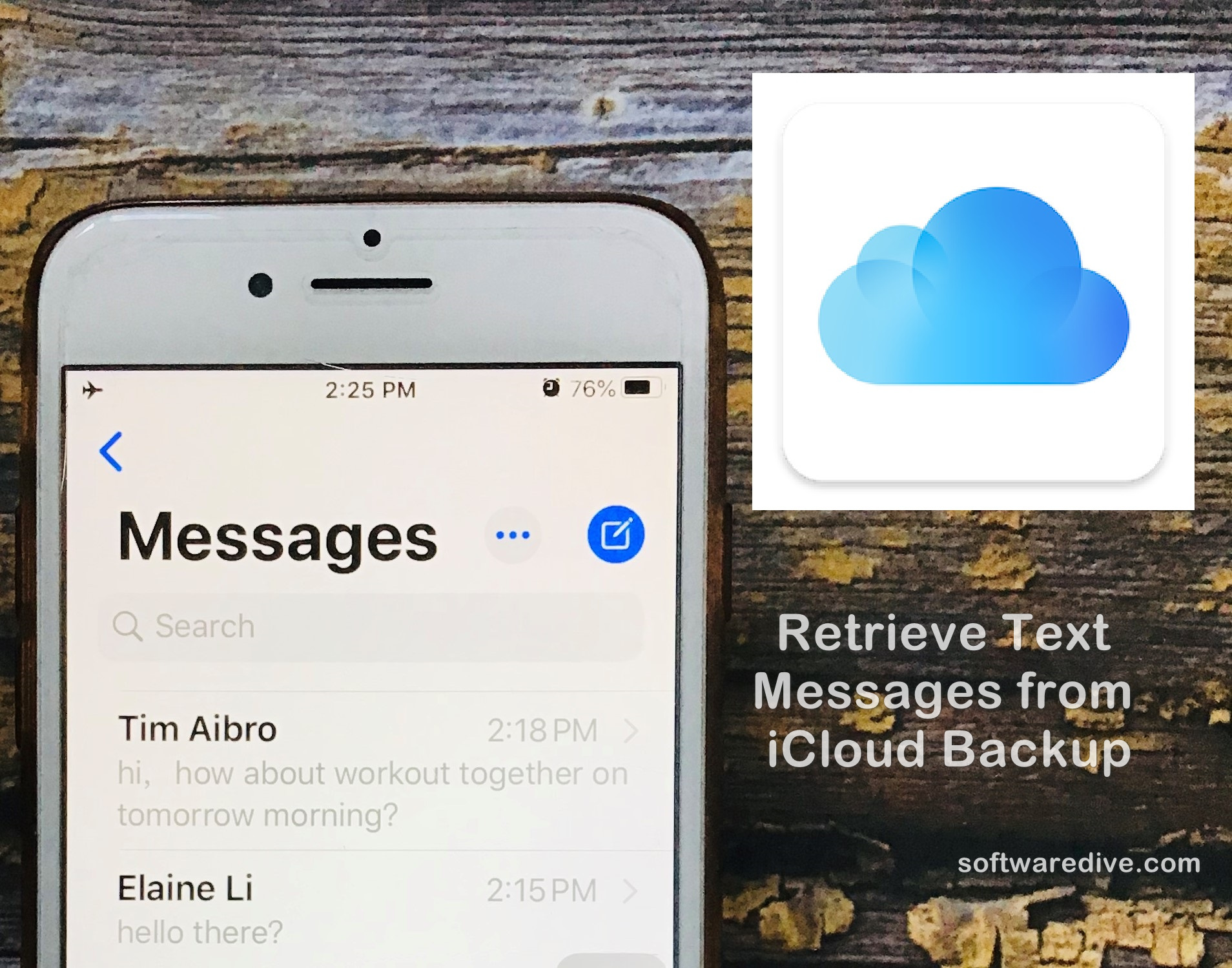 Retrieve Deleted Text Messages From ICloud Backup