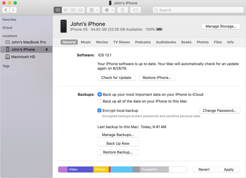 reset iPhone to factory settings by iTunes restore