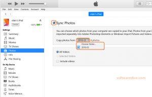 sync pc photos to iPad via iTunes