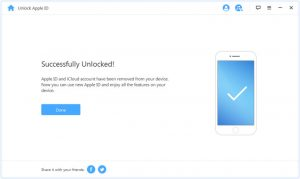 remove apple id sucessfully