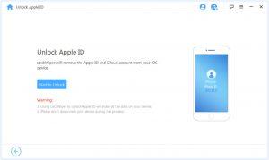 unlock apple id start