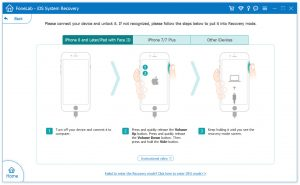 put into recovery mode guide-system recovery