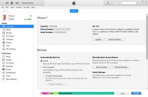 Factory reset iPhone 12(mini)12 Pro (Max) via iTunes