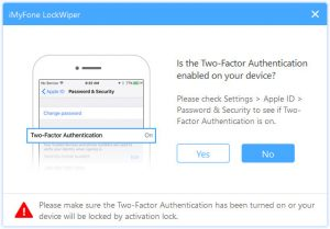 ensure two-factor authenciation is on