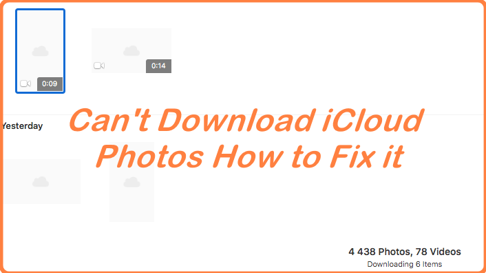 Can't Download Photos From ICloud How To Fix It