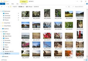 Open folder-download photos from iCloud to computer successfully