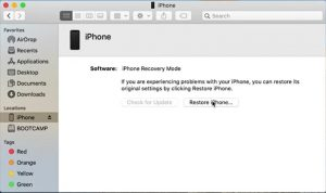 Restore disabled iPhone iPad without iTunes with Finder
