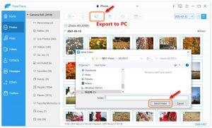 Backup iPhone/iPad Photos to PC-Export