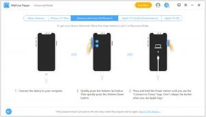 iPhone 12 recovery mode button operation