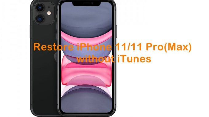 How To Restore IPhone 11/11 Pro (Max) Without ITunes