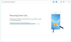 resetting and removing screen lock