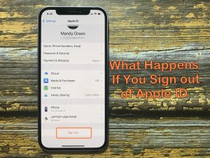 what happens when you sign out of apple id