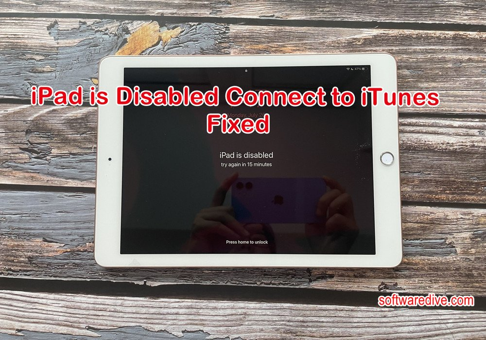 Ipad Is Disable Connect To ITunes Fixed