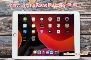 reset ipad without itunes