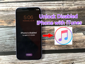 Fix disabled iphone with iTunes