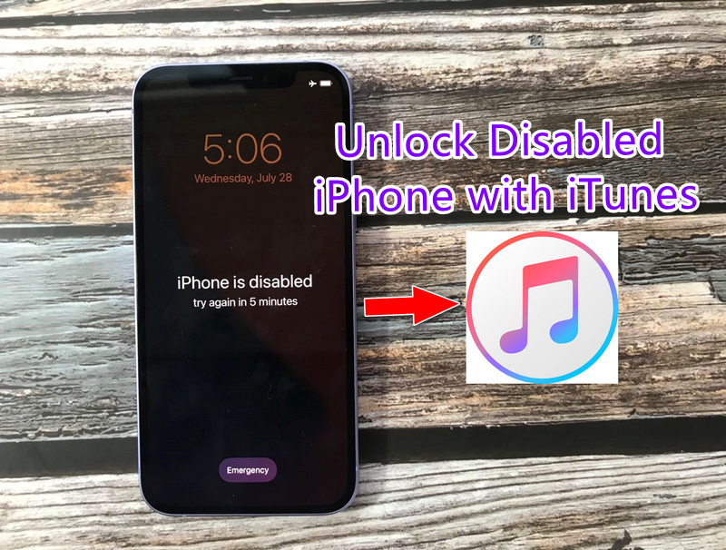 Unlock Disabled Iphone With ITunes